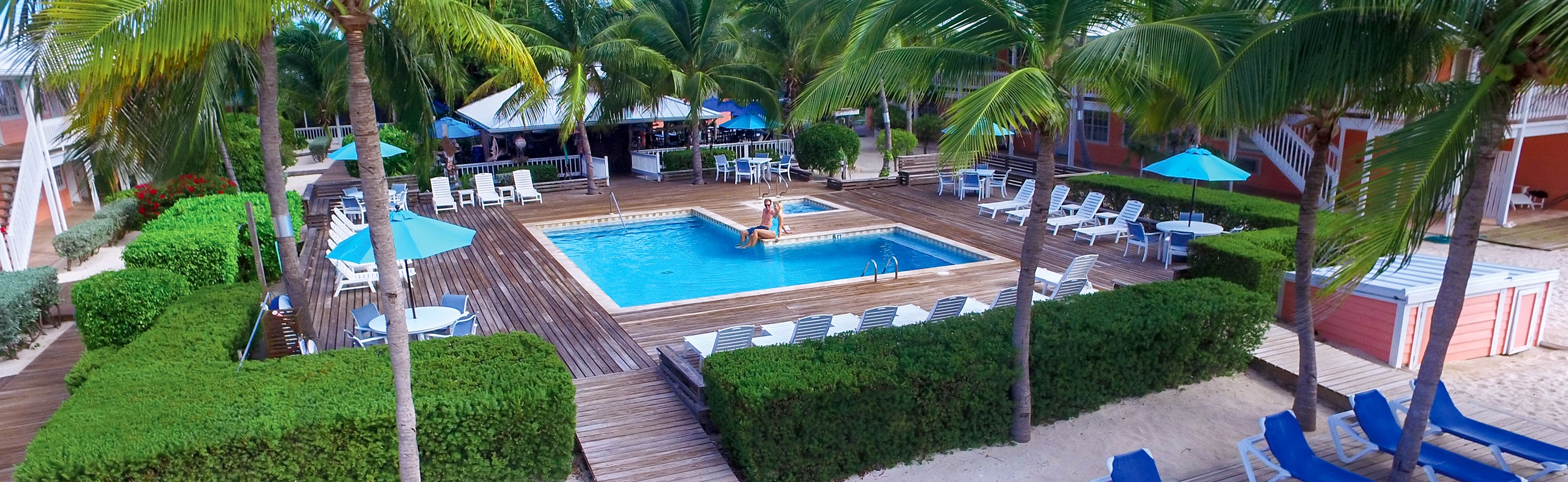 Small and intimate – our pool area is a perfect tropical oasis to enjoy after diving